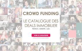 Catalogue des deals immobilier du crowdfunding